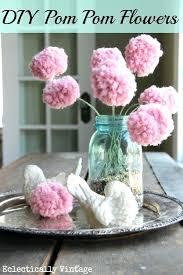 pom poms decorations flowers with a fork diy wedding felt yarn cardboard