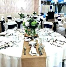 white tablecloth with burlap runner white tablecloth with burlap runner wedding table