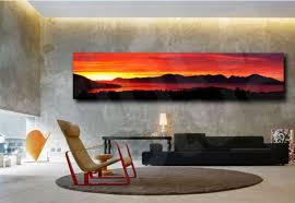 panoramic sunset red sun giclee art canvas print