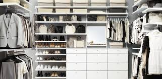 white elfa décor his hers walk in closet