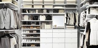 white elfa décor his hers walk in closet
