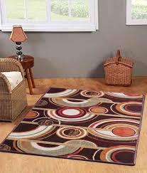 status brown geometrical taba rug 4x6 feet