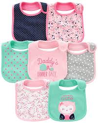 Carters Baby Girl Size Chart Simple Joys By Carters Baby Girls 7 Pack Teething Bibs