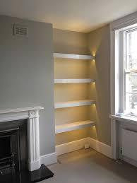 Alcove Shelves With Lighting  Pinterest