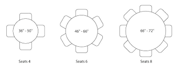 6 seater dining table dimensions for round glass top seating in m