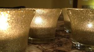 Diy Gold Candle Holders How To Easily Glitter Glass Tea Light Holders Diy Home Tutorial