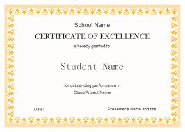 Award Certificate Template Free Award Certification Template Free Customcartoonbakery Com