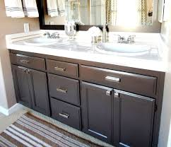 Impressive Paint Bathroom Cabinet How To Refinish Your Bathroom ...