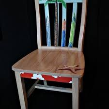 hand painted surfboard themed chair by lara ralston