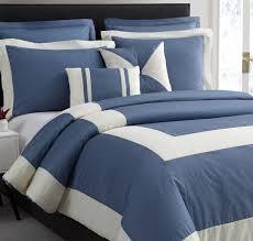 cozy beddings 4pc chaz comforter set denim blue twin twin xl size ivory stripe bed cover com