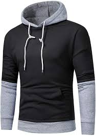 <b>Mens Novelty</b> Color Block <b>Hoodies</b> Cozy Sport <b>Sweatshirt</b> Tops ...