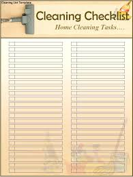 Home A Personal Template Finest Cleaning List For House Or Office