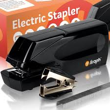 jiraph electric stapler with staple remover and capacity loaded with staples