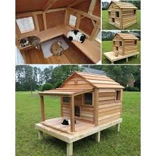 entranching outdoor cat house plans outdoor cat house plans howtospecialist how to build step