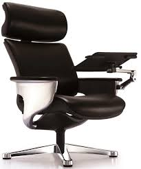 nuvem leather office chair with footrest and built in laptop holder black nuvemblk by