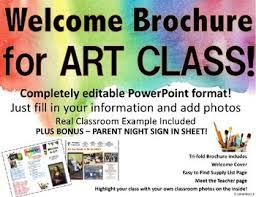 Teacher Brochure Example Back To School Night Brochure Editable Teaching Resources Teachers