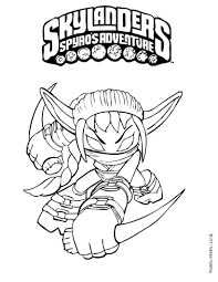 Skylanders Coloring Pages Stealth Elf Amazing Hellokids Com For 0
