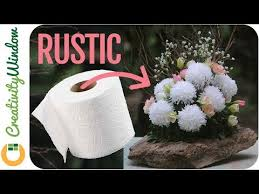 new rustic toilet paper flower arrangement
