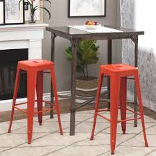 burnt orange bar stools. brilliant bar tabouret 30inch tangerine metal bar stools set of 2 inside burnt orange o