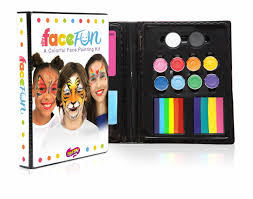 deluxe rainbow party silly face fun kit face paint silly farm kit