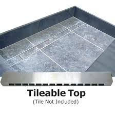 tile redi shower pan barrier free with back linear drain top what type of mortar for tile redi shower pan