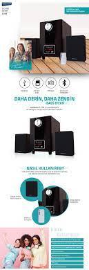 Goldmaster S-2128 2+1 Ses Sistemi(Bluetooth Özellikli) Fiyatı