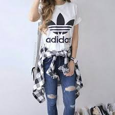 adidas outfits. super cute #adidas tee! we love adidas at #sportdecals! get custom outfits