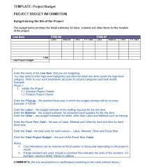 Project Budget Template 9 Ms Office Documents