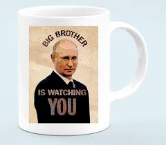 Путин - <b>Big brother</b> is watching you кружка белая - <b>Футболки</b>