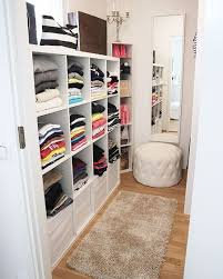 ikea kallax shelving units add function to a small closet