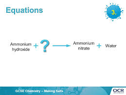 equations 3 ammonium nitrate ammonium hydroxide water
