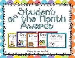Student Of The Month Certificates Student Of The Month Award Bundle Editable School Student
