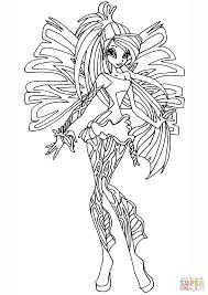 Small Picture Winx Club Sirenix Bloom coloring page Free Printable Coloring Pages