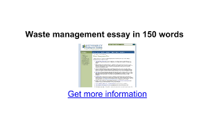 waste management essay in words google docs