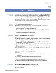 Product Management Resume Reference Product Manager Resume Summary