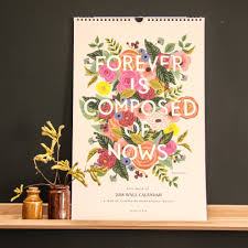 Paper Flower Quotes Rifle Paper Co Inspirational Floral Quote Calendar 2018