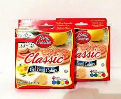 Betty Crocker Gel Food Color Blending Chart Betty Crocker Classic Gel Food Colors 2 Packages Of 4