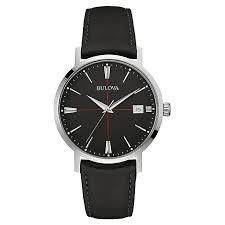 bulova watches designer watches ernest jones bulova aerojet men s stainless steel black strap watch product number 3590070