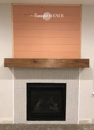 the wood mantel was a pretty basic construction 1 x 8 pieces of lumber cut to 68 long and then a couple of pieces for the ends