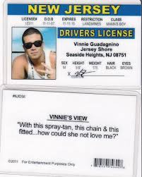 Vinnie Nj Fake License New Jersey Drivers Shore