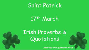 Irish Proverbs Quotes St Patricks Day Famous Quotations