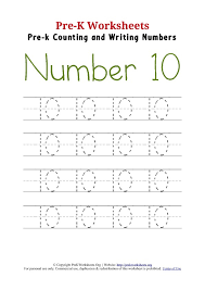 Number 10 Worksheets For Kindergarten - Everylev Elofs