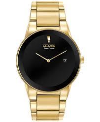 citizen men s axiom eco drive gold tone stainless steel bracelet citizen men s axiom eco drive gold tone stainless steel bracelet watch 40mm au1062