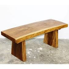 natural wood bench.  Wood Shop Handmade Wooden Natural Walnut Oil Edge Bench Thailand  On Sale  Free Shipping Today Overstockcom 5226471 Inside Wood