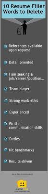 resume tips toss these resume filler words filler cover letter