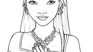 Easy Girl Coloring Sheets Cute Pages Anime Stunning