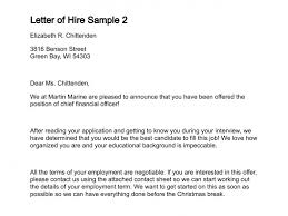 Acceptance Letter For Job Simple Letter Of Hire
