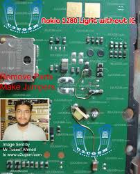 Nokia 1280 Light Ic Jumper Pin On Mobile
