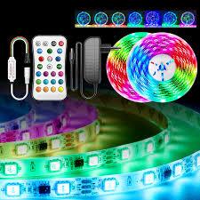 Dây Đèn Led Ánh Sáng 5050 RGB DC12V RGB Dẻo Led Ruy Băng 5M 10M 25M 30M Đèn  Led dây Đèn Có Hồng Ngoại Từ Xa|Dải Đèn LED