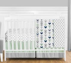 Light Green Crib Skirt Crib Bedding Sweet Jojo Designs Navy Blue And White Crib Bed